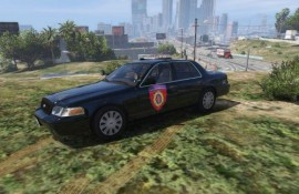 "LAPD 2010 Ford Crown Victoria Police Interceptior ""Жандaрмерија"" Serbian Skin"