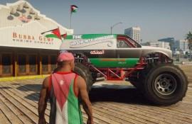 Jordanian Flag Monster Truck Paintjob