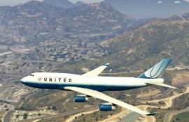 United Airlines 747-400 Tulip Livery