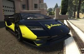Lamborghini Countach 2022 - Yellow faded stripe [Paintjob]